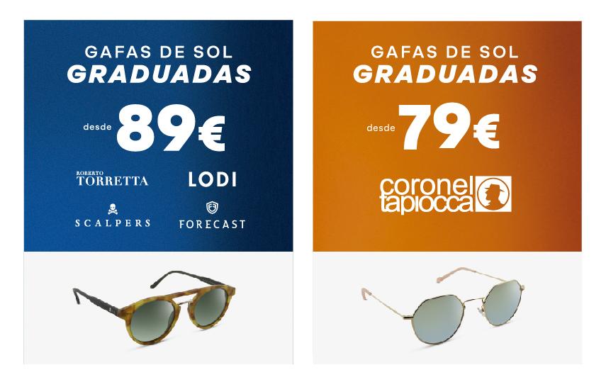 Promocion gafas de sol graduadas desde 79 euros Federópticos 2019